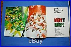 1967 Super Bowl I Program Kansas City Chiefs vs Green Bay Packers nm-mt