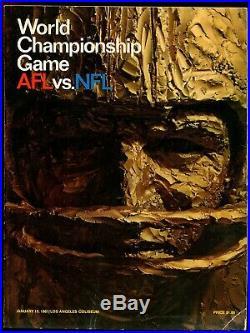 1967 Super Bowl I Program Rare Green Bay Packers Kansas City Chiefs NFL Football