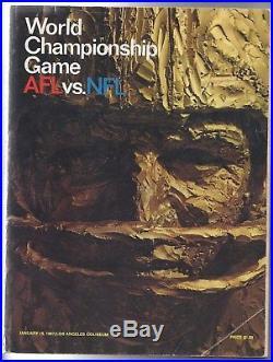 1967 World Championship Super Bowl I Program NFL Packers vs. AFL Chiefs