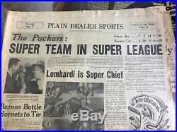 1967 super bowl I afl nfl championship packers chiefs misc lot