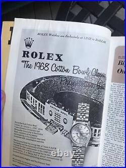 1968 Cotton Bowl Texas A&M Aggies vs Alabama Crimson Tide Football Program