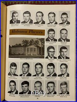 1968 Cotton Bowl Texas A&M v Alabama Football Program/KEN STABLER-MINT Condition