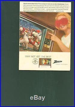 1968 NFL Championship Super Bowl II Program Superbowl Pack Wins 33-14 Lombardi