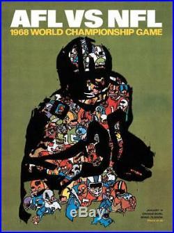 1968 Packers vs Raiders 36 x 48 Canvas Super Bowl II Program Fanatics