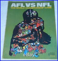 1968 SUPER BOWL II Raiders vs Packers Official Program Orange Bowl Miami