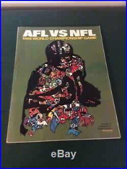 1968 Super Bowl II (2) Official Program Raiders vs Packers Great Condition