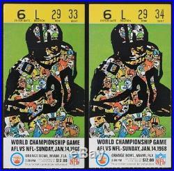 1968 Super Bowl II Program and Pair Ticket Stubs AFL vs NFL Championship Game