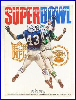 1969 3rd Super Bowl lll WCG Football Program NY Jets vs. Baltimore Colts