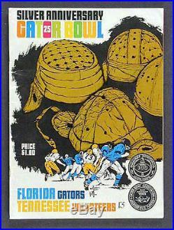 1969 Gator Bowl RARE Florida Tennessee Football Program Gators Volunteers