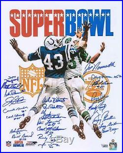 1969 New York Jets Signed Super Bowl III Program 16x20 Photo 24 Signatures