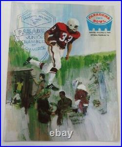 1969 Pasadena Bowl Program San Diego State v Boston U 12/6 Don Coryell Ex 68877