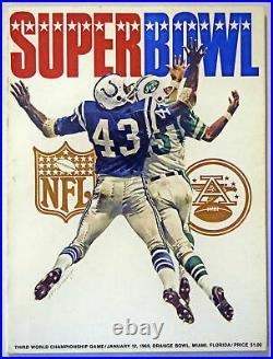 1969 Program Super Bowl III Ex-Mt/NM 608884