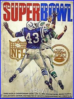 1969 Program Super Bowl III Good 582326