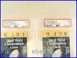 1969 SUPER BOWL 3 BALTIMORE COLTS vs NEW YORK JETS TICKET STUBS WithPROGRAM BONUS