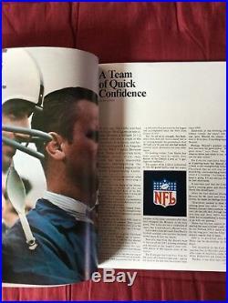 1969 SUPER BOWL III 3 Program -New York Jets vs Baltimore Colts-Football AFL NFL