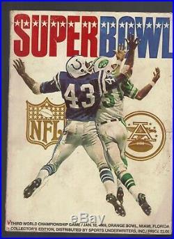 1969 Super Bowl III Original Game Program Colts vs. Jets -Namath MS0284