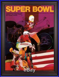 1970 Chiefs vs Vikings Framed 36 x 48 Canvas Super Bowl IV Program Fanatics