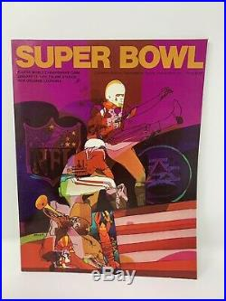 1970 NFL Super Bowl IV Football Program Kansas City Chiefs Minnesota Vikings