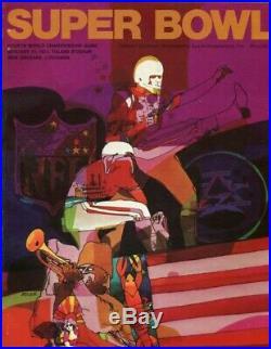 1970 SUPER BOWL IV PROGRAM KANSAS CITY CHIEFS vs. MINNESOTA VIK RARE NFL FOOTBAL