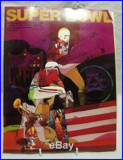 1970 SUPER BOWL IV Program Kansas City Chiefs Vs. Minnesota Vikings