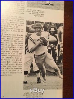1970 Sugar Bowl Football Program & Ticket -ole Miss Rebels Vs Arkansas