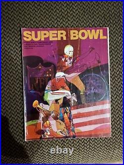 1970 Super Bowl IV Program Kansas City Chiefs vs Minnesota Vikings Very Good