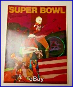 1970 Super Bowl IV Program Minnesota Vikings Kansas City Chiefs Rare NFL Footbal
