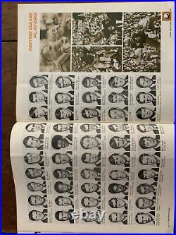 1971 Cotton Bowl Notre Dame v Texas Football program/JOE THEISMAN/STEVE WORSTER