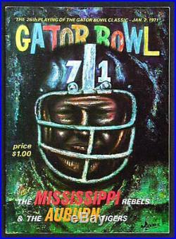1971 Gator Bowl RARE Auburn Ole Miss Football Program Archie Manning MVP