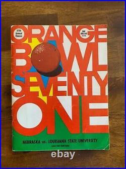 1971 Orange Bowl football Program Nebraska vs LSU National Champions