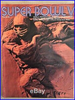 1971 SUPER BOWL V 5 OFFICIAL GAME PROGRAM, Cowboys vs. Colts