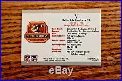 1971 SUPER BOWL V (5) PROGRAM, TICKET, PATCH, & CARD DALLAS vs COLTS