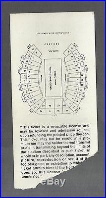 1971 Super Bowl V (5) Program & Ticket Dallas Vs Colts At Miami Orange Bowl