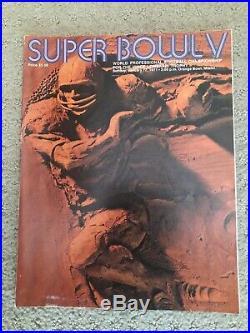 1971 Super Bowl V (5) Program -and Pennants Dallas Cowboys & Colts