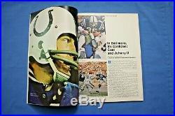 1971 Super Bowl V Program Baltimore Colts vs Dallas Cowboys nm-mt