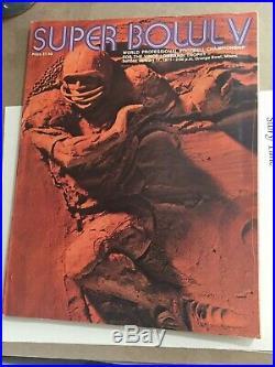 1971 Super Bowl V Program Dallas Cowboys vs Baltimore Colts Chuck Howley MVP