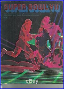 1972 NFL Championship Superbowl VII Program Dolphins V Redskins Super Bowl 7