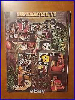 1972 SUPER BOWL VI 6 Official NFL Program Dallas Cowboys Miami Dolphins