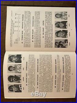 1973 Cotton Bowl ALABAMA vs TEXAS football-TIDE MEDIA GUIDEBEAR BRYANT cover