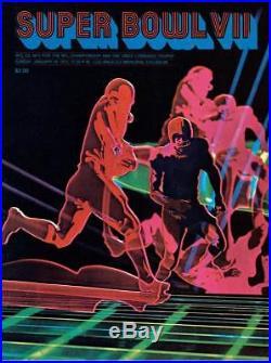 1973 Dolphins vs Redskins 36 x 48 Canvas Super Bowl VII Program Fanatics