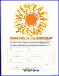 1973 Orange Bowl football Program Notre Dame vs Nebraska