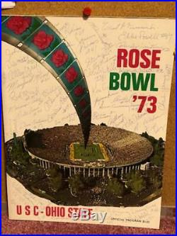 1973 Rose Bowl Program Signed By 50 USC Players & Coaches with McKay, Swann +++