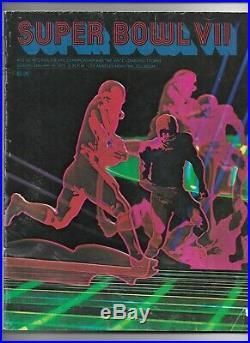 1973 Super Bowl VII (7) Program Miami Dolphins 17-0 Vs Washington Redskins