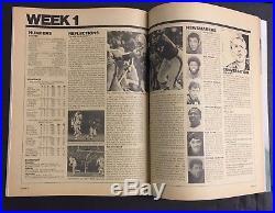 1973 Super Bowl VII Program 1972 Miami Dolphins Perfect Season NrMt Condition
