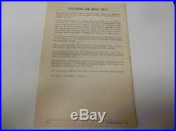 1974 Super Bowl VIII Media Guide Minnesota Vikings Miami Dolphins Rare NFL Footb