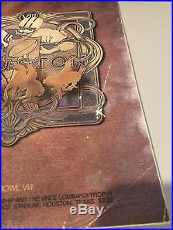 1974 Super Bowl VIII Official Game Program Miami Dolphins Minnesota Vikings