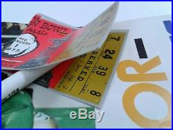 1975 39th Cotton Bowl Classic Baylor VS Penn State with 2 Game Ticket Stubs