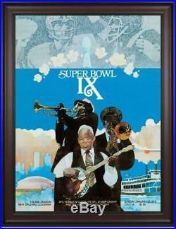 1975 Steelers vs Vikings 36x48 Framed Canvas Super Bowl IX Program Fanatics