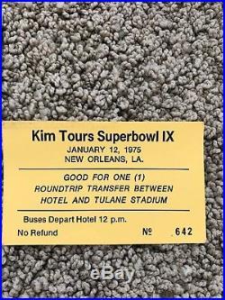 1975 Steelers vs Vikings Super Bowl IX Program & Ticket LOT