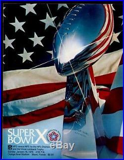 1976 NFL FB Super Bowl 10 Program Pittsburgh Steelers vs Dallas Cowboys EXMT